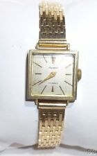 14k Solid Gold Partout Watch Ladies Watch W Link Bracelet Band Vintage WOW