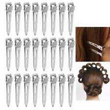 24Pcs de una sola punta rizo Duckbill Hair Clips Plata Seccionamiento Cocodrilo horquilla