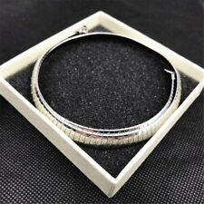 Women Stainless Steel Silver Gold Collar Choker Fashion Bib Necklaces Silver 6mm