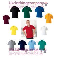 Magliette , maglie e camicie rossi per bambini dai 2 ai 16 anni polo poliestere