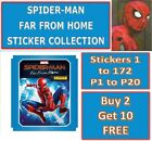 Panini SPIDER-MAN FAR FROM HOME Stickers Buy 2 Get 10 Free #1-172 & P1 to P20
