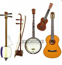 1/8 Japan Guitar Banjo Ukulele Niko Samisen Stringed Instrument F-toys set A 5pc