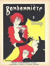 Original vintage poster print BONBONNIERE & EREMITAGE 1920 Schnackenberg