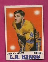 1970-71 OPC  # 34 KINGS GILLES MAROTTE EX-MT CARD (INV#5218)
