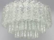 60er 70er XXL Doria Kronleuchter Lampe Leuchte Iceglass Space Age Design  /H