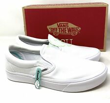 VANS Comfycush Slip On Canvas White Men's  Sneakers VN0A3WMDVNG