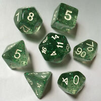 DUNGEONS & DRAGONS Dice Set D&D Spectrum Roleplaying Game Dice 7 Dice Set Green
