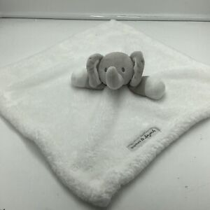Blankets & Beyond Elephant White Gray Baby Security Blanket Lovey