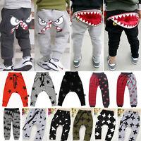 Kids Girls Boys Harem Pants Tracksuit Bottoms Sports Joggers Sweatpants Trousers