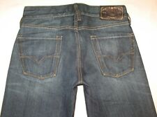Guess Jeans Mens Falcon Low Slim Bootcut Dark Distressed 28 X 33