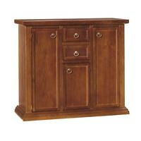Cupboard 1392 With 3 Doors 2 Drawers Classic Dye Walnut