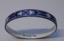 Design Modeschmuck Emaille Michaela Frey Armreif Armband Blau Bracelet Nr.270