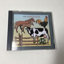 Janome 9000 Machine Embroidery Farm Animal Design Series Memory Card #112