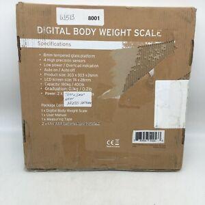 Etekcity Digital Body Weight Bathroom Scale LCD Display Tempered Glass 400 Lb