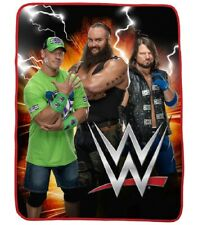 New Wrestling WWE Plush Fleece Throw Gift Blanket John Cena Styles Strowman SOFT