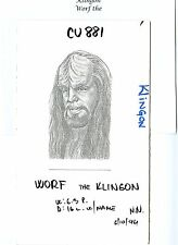 WORF THE KLINGON STAR TREK WALL STREET JOURNAL HEDCUT PUBLISHED ORIGINAL ART