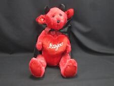 RED HOT DEVIL COSTUME BLACK CAPE I LOVE YOU PLUSH STUFFED ANIMAL ATICL INTL 18""