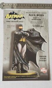 Batman Alex Ross Dark Crusader Statue RARE Print Advertisement