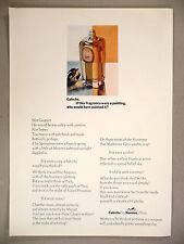 Caleche Perfume PRINT AD - 1969 ~ Hermes