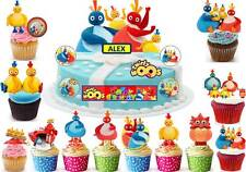 Twirlywoos Cup Cake Scene Toppers Birthday Party Rice Wafer Edible STAND UP