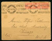 FRANCE 1931  COVER TO LAW SCHOOL UNIVERSITY CHICAGO ANTI TUBERCULOIS  CANCEL