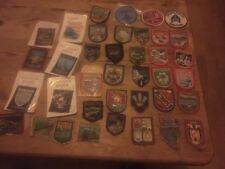 More details for job lot of 38 vintage embroidered badges / patches