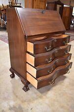 Antique Maddox Mahogany Home Office Desk, Drop Front Secretary, Ball & Claw