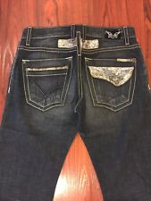 NEW Authentic Robin's Jeans Mens 33 SILVER TABACCO Foil Short Flaps Robin