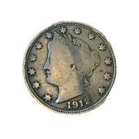 1912-S Liberty Nickel - Key Date - Very Fine Condition