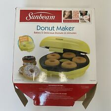 Sunbeam Yellow Donut Maker Stay at Home FUN New Open Box
