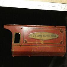 Vintage TIN Toy Part -- STRAUSS -GRAND DELIVERY TRUCK side panel