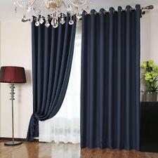 100% Leinen Vorhang 230x260 cm Ösen blau Schal Flax Neu
