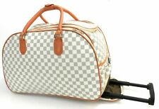 DESIGNER INSPIRED LUGGAGE WHEELED TRAVEL HOLDALL CABIN TROLLEY BAG CASE