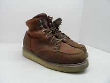 "TIMBERLAND PRO Men's 6"" BARSTOW WEDGE MOC SOFT TOE WORK BOOTS 89647 Rust 10W"