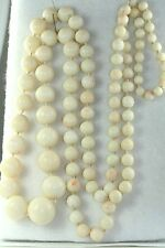 VINTAGE 1920'S ANGEL SKIN CORAL BEADS 36 INCH NECKLACE OPERA ROPE LENGTH