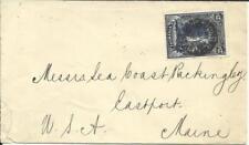 Tasmania Sg#232(single frank) Launceston De/23/1902 to Usa, backstamped,