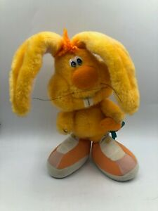 Applause Wallace Berrie 1984 Orange Bunny Rabbit Carrot Plush Stuffed Toy Animal