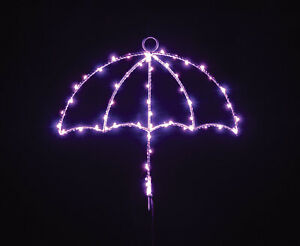 Hanging LED Silhouette Wall Light with Key Holder - Umbrella House Decoration