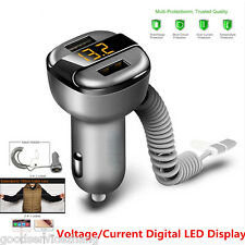 2-USB Smart Charger Adapter Voltage/Current Digital Display Fit Android Iphone