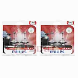 2 pc Philips Low Beam Headlight Bulbs for Land Rover Discovery Discovery jq