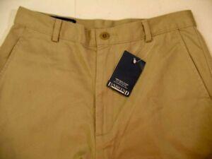 NWT Lands End Long Classic Chino Khaki Women's Flat Front Cotton Shorts Size 4