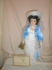 """Collectible Seymour Mann 19"""" Southern Belle Hand Painted Porcelain Doll"""