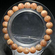 Crystal Beads Bracelet Aaa 8.3mm Natural Orange Moonstone Quartz