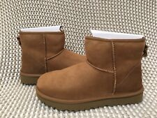 UGG Classic Mini II 2.0 Chestnut Water-resistant Suede Boots Size US 7 Womens