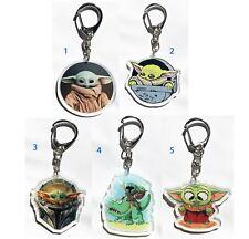 Star Wars Mandalorian The Child Baby Yoda Grogu Acrylic key chain keyring