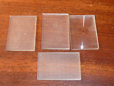 LOT 4 MINI plaque de verre photo LENS microscope GLASS SLIDE lamelle VINTAGE old