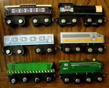 LOT OF 6 Maison Joseph Battat Wooden Magnetic Trains - Thomas Brio Compatible