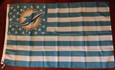 Miami Dolphins 3x5 American Flag. US seller. Free shipping within the US