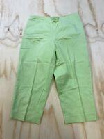 TALBOTS PETITES WOMEN SIZE 10 STRETCH LIME GREEN DRESS PANTS EUC