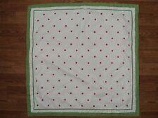 POTTERY BARN KIDS Claire Hot Pink Polka Dot Green Trim Euro Sham white EUC